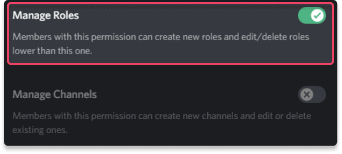 Permissions Manage Discord Roles